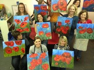 party and paint poppies